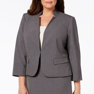 Nine West Inverted-Notch-Collar Jacket NWT$109 24W